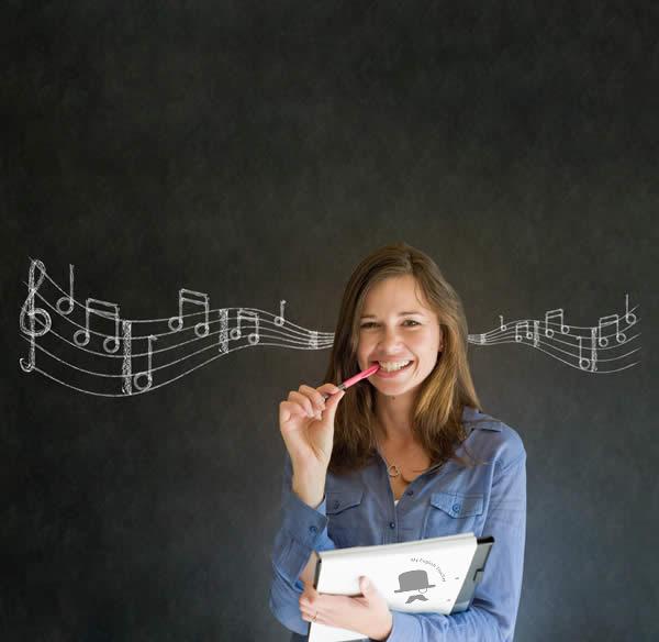 El uso de la música en la Academia de Inglés Met